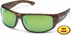 Suncloud-Turbine-Polarized-Sunglasses-Matte-Tortoise-amp-Green-Mirror-Lens-AUTHENTIC