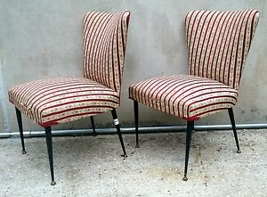 Sedie Imbottite Anni 50 : Eccezionale coppia di poltrone sedie imbottite anni stile gio