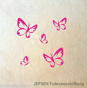 5-Butterfly-Schmetterlinge-im-Set-Schmetterling-Set-S-Wandtattoo-Aufkleber