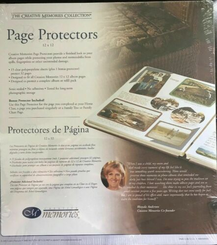 12x12 Page Protectors for Creative Memories Scrapbook Album RCM-12S Old Style