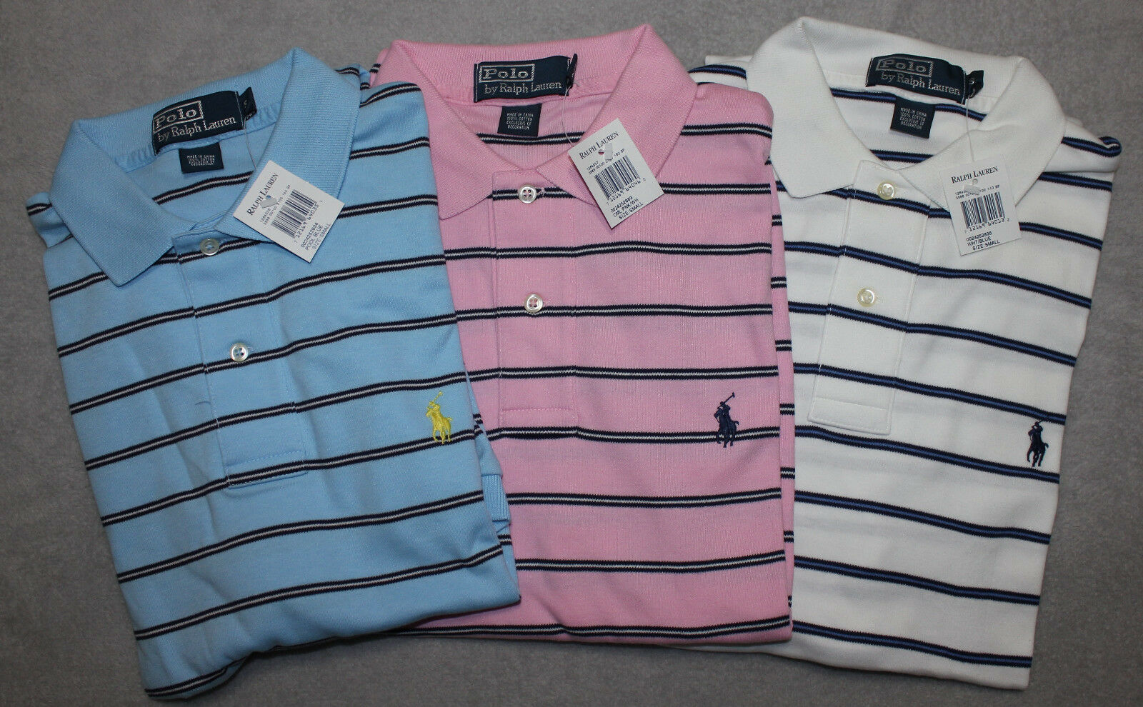 New Polo Ralph Lauren Men's Striped Polo Shirt S M L NWT