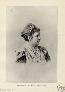 1899 Principessa MARIA TERESA DI BAVIERA REGNANTI D'EUROPA Antica FOTO - Italia - 1899 Principessa MARIA TERESA DI BAVIERA REGNANTI D'EUROPA Antica FOTO - Italia