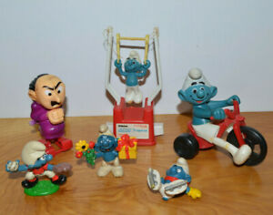 Vintage Smurfs Figurines Collectibles Toys Lot Baseball Pitcher Ice Skate Clumsy Ebay