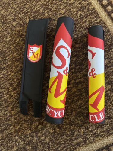 S/&M BMX BIKE PAD SET RACING RETRO BICYCLE FIT CULT SE ODYSSEY HOLMES