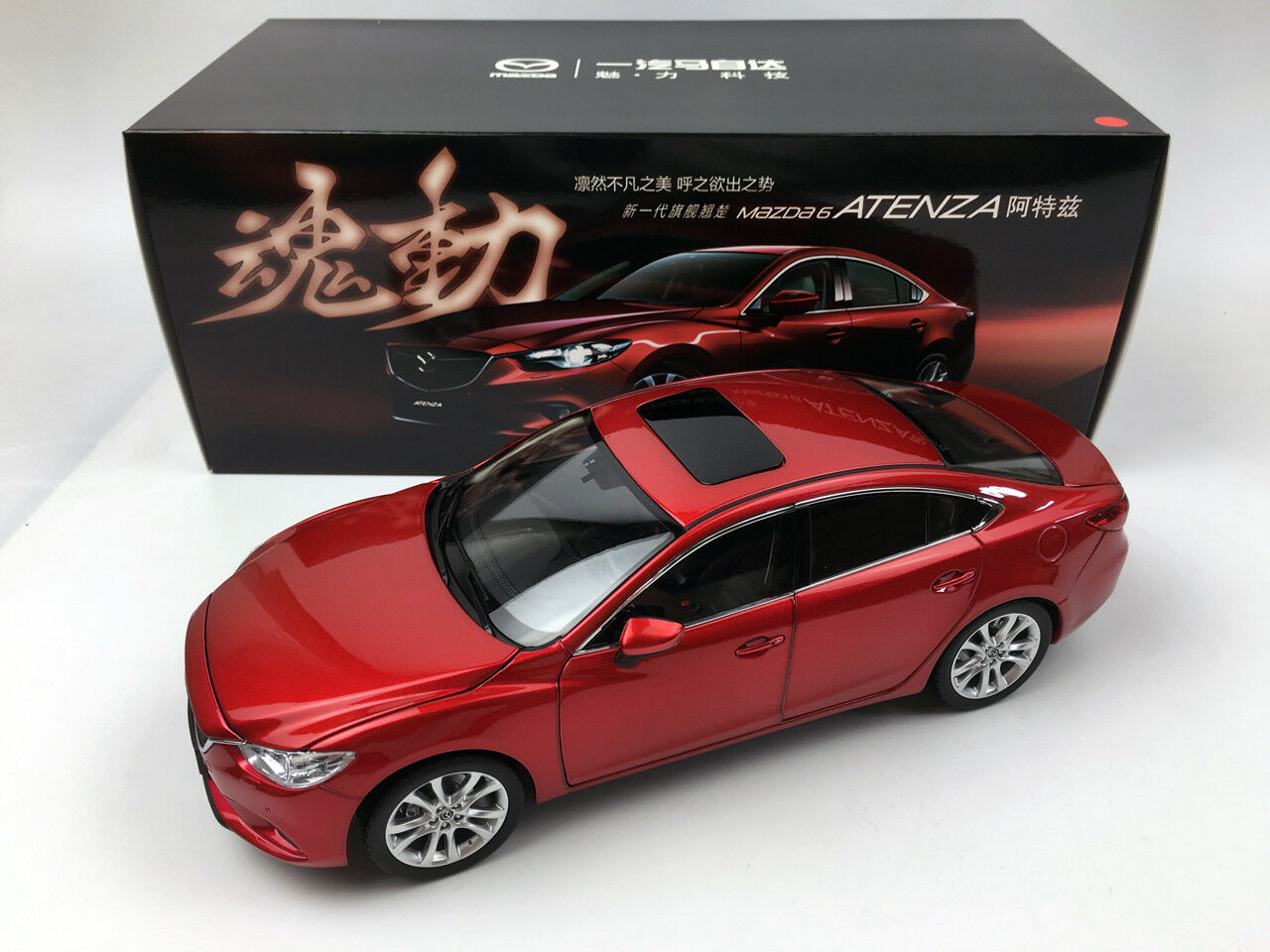 1 18 Mazda 6 ATENZA 2014 rouge Die-Cast Metal Model
