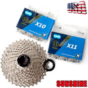 KMC-116-118L-6-11S-Chain-Road-Bike-Cassette-11-25-28-32-36T-Sprocket-Chains-Cogs