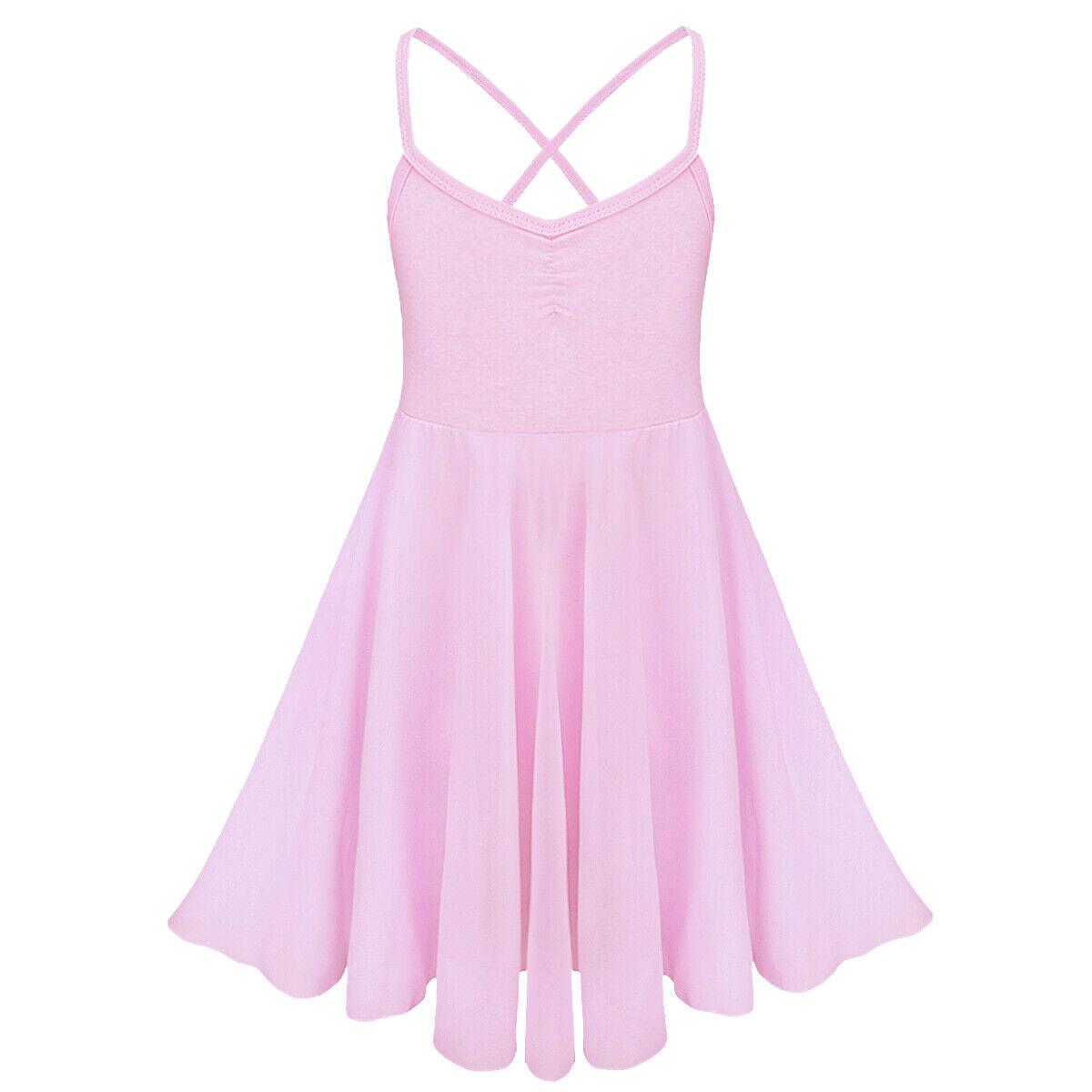 Kids Girls Chiffon Ballet Dancer Leotard Dress Gymnastics Tutu Skirt Leotard