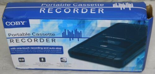 Coby CVR-22 Portable Cassette Recorder NOB
