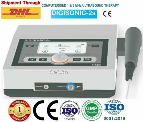 Digisonic 2s Home use Ultrasound Therapy 1Mhz & 3 Mhz Compact design Portable W>