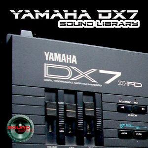 YAMAHA DX7/DX7II Original Factory & New Created Sound Library