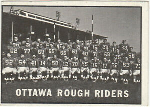 1961 Topps CFL # 88 Ottawa Rough Riders TEAM CARD! EX-EXMT!