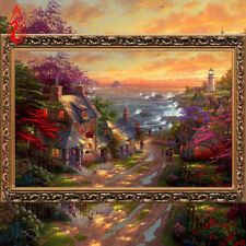 YGS-97 DIY 5D Embroidery Seaside Cottage China Diamond Painting Cross Stitch Kit