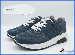 446d9cd15e Dettagli su Igi & Co scarpe da uomo sneakers blu estive in pelle igi co  estive memory foam