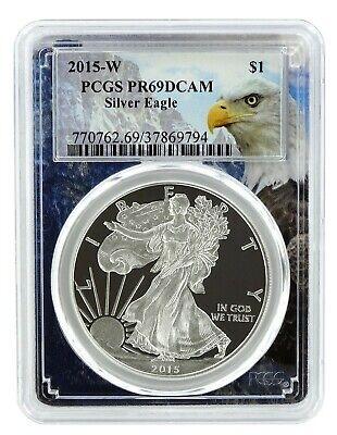 2015 W 1oz Silver Eagle Proof PCGS PR69 DCAM Eagle Frame