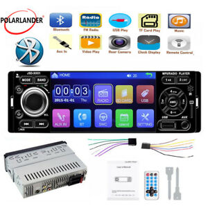 """Car Radio Touch Screen Mirror Link 4/"""" 1 Din Bluetooth USB AUX MP5 Player Stereo"""