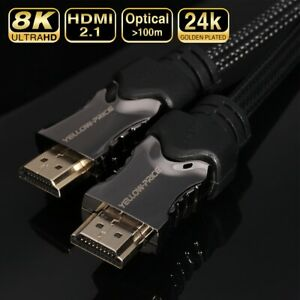 HDMI-2-1-Ultra-HD-8K-4K-Cable-Audio-amp-Ethernet-Cord-48Gbps-1-5ft-3ft-6ft-30ft-Lot