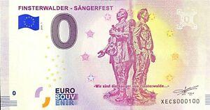 BILLET 0  EURO FINSTERWALDER  SANGERFEST  ALLEMAGNE 2018 NUMERO 100