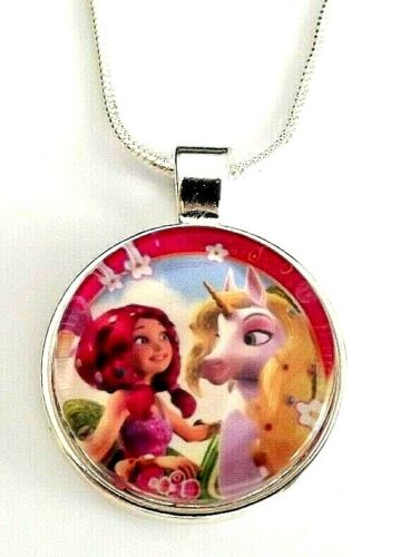 MIA AND ME UNICORN SILVER 16 INCH  2-4 YEAR NECKLACE PRINCESS GIFT BOX BIRTHDAY