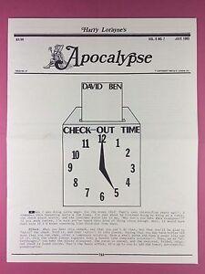 Importé De L'éTranger Harry Lorayne's Apocalypse - Magiciens Newsletter Vol.6 / N°7 - 1983 - Magique Garantie 100%