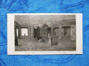 Gravure-Annee-1863-Grande-grotte-a-Elephanta-Inde-Cava-di-Elephanta-India