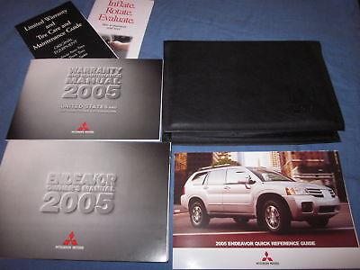 2005 Mitsubishi Endeavor Owners Manuell Owner' S Set Hülle