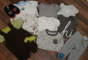 Carter-039-s-boys-infant-clothing-lot-of-11-0-6-months-one-piece-pants