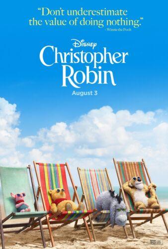 "Christopher Robin Movie Poster Ewan McGregor Pooh Art Poster 21×14 27×40/"" 32×48/"""