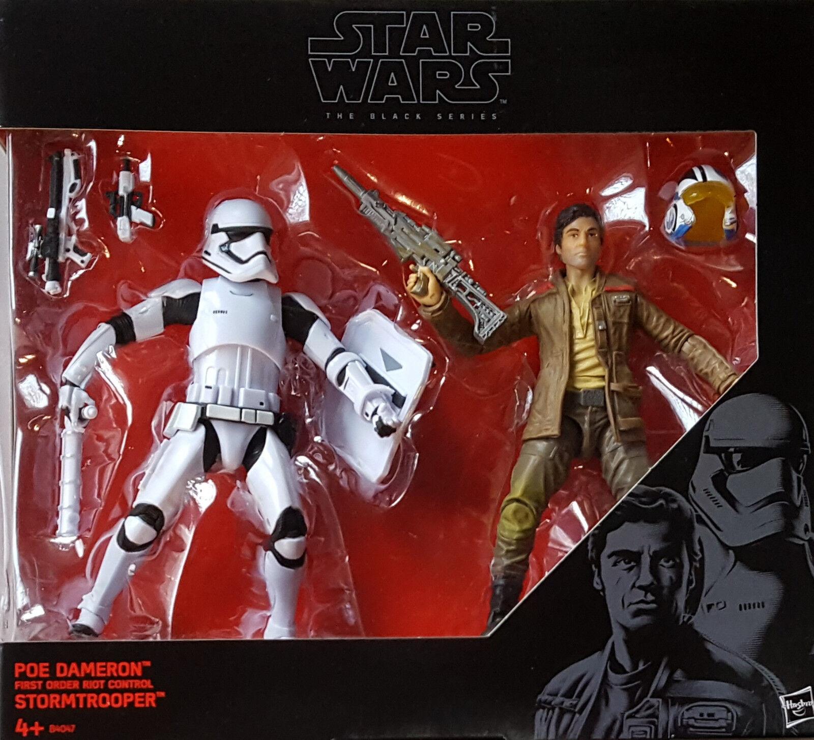 HASBRO® B4047 Star Wars® 6inch schwarz Series Series Series Poe Dameron™ & Stormtrooper™ 1619fd