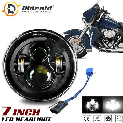 "7/"" inch 280W LED Headlight DRL Angel Eyes for Davidson Honda Yamaha Motorcycle"