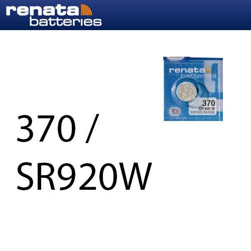 2 x Renata 370 Uhrenbatterien 1,55 V SR920W SR69 LR920 40mAh Knopfzelle