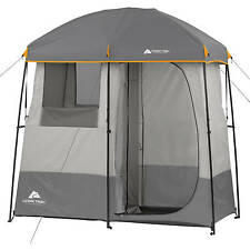 Camping Shower Tent Portable Toliet 2 Room General Use 5 Gallons Solar Heated
