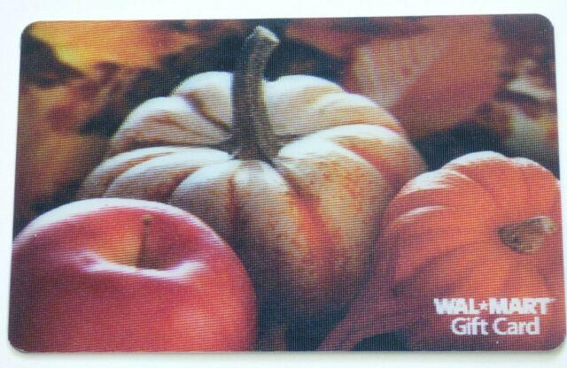 Walmart Gift Card Lenticular / 3D - Pumpkins, Apple / Fall  - No Value