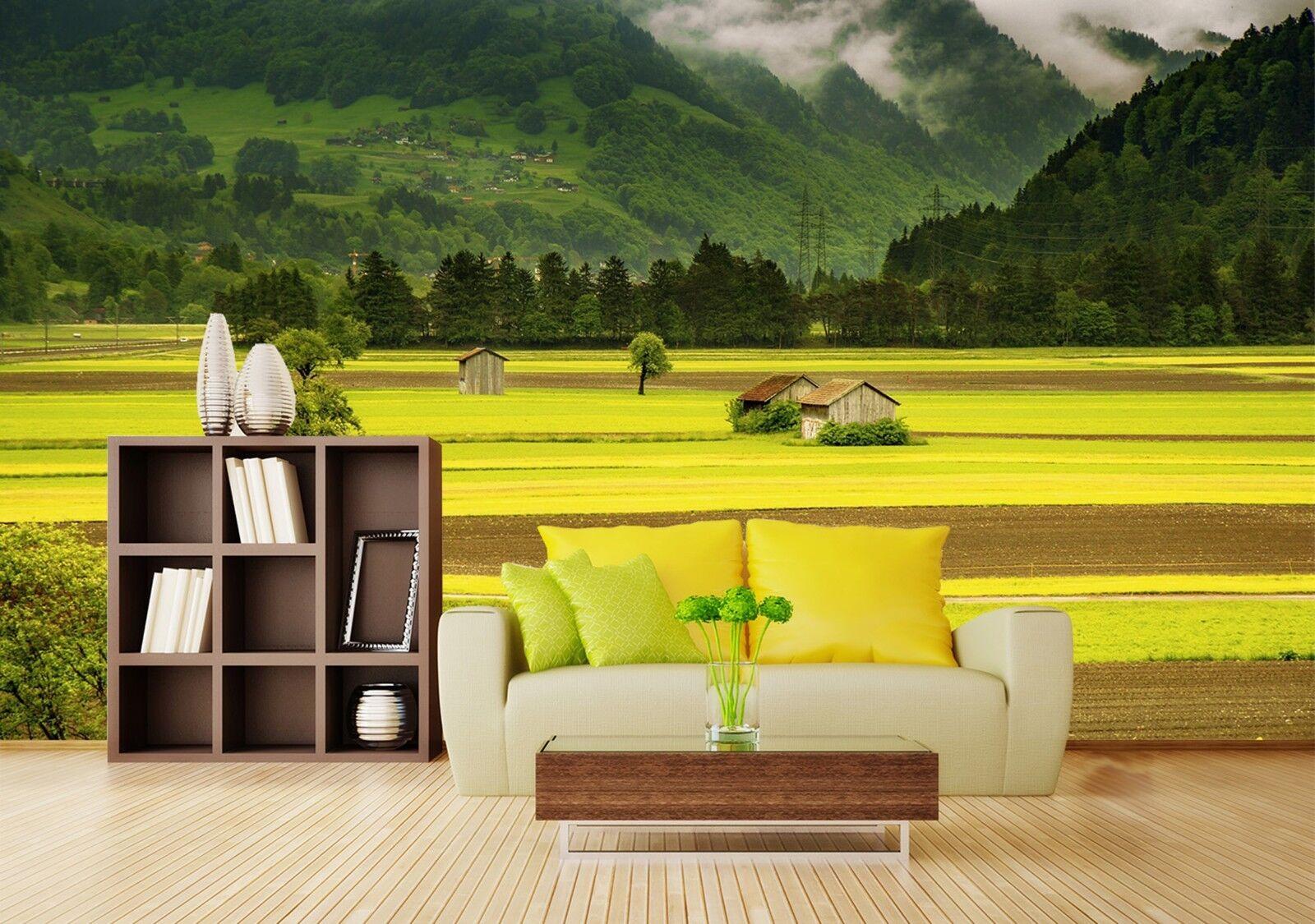 3D Feld Landschaft Wolken 803 Tapete Wandgemälde Tapeten Bild Familie DE Lemon