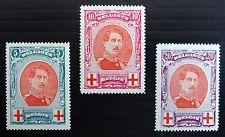 BELGIUM 1915 Red Cross SG157/9 Mounted Mint NB1861