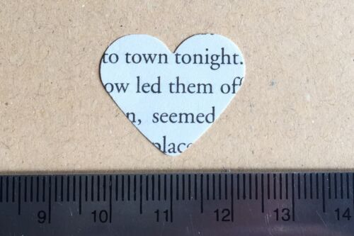250 Rustic Paper Hearts-Vintage Tea Party Table Confetti//Decor 47 Book Choices