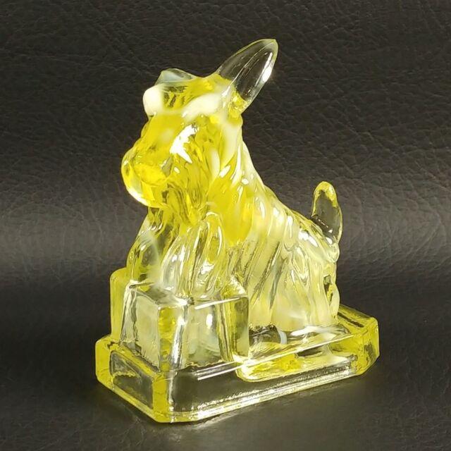 #1 CORNSILK JB SCOTTIE Boyd's Crystal Art Glass Scottish Terrier Scotty Dog 1983