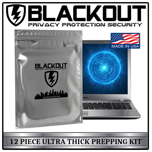 FARADAY CAGE EMP ESD BAGS 12 PC VARIETY SIZE PREPPER KIT BY BLACKOUT