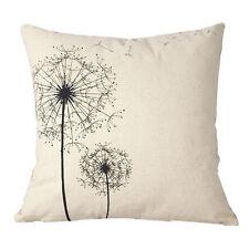 Cotton Linen Square Decorative Throw Pillow Case Cushion Cover Dandelion  HOT