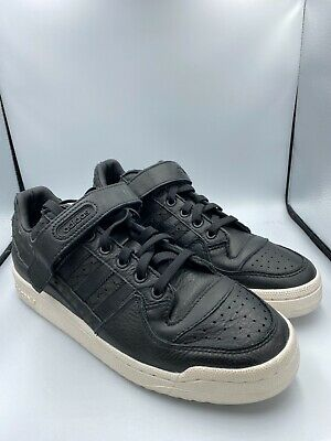 Adidas Forum Low Shoes Trainer Women Sneakers UK 8 US 9.5 CQ2682 Black Leather