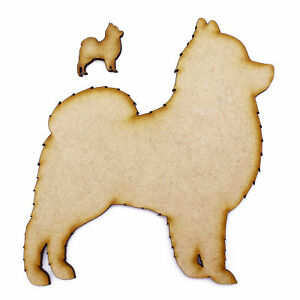 Pomeranian 3mm MDF Wooden Laser Cut Shapes Various Sizes