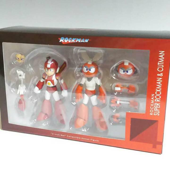 Sentinel Super Mega Man And Cut Man Action Figure PVC 10 cm Anime Manga Japan