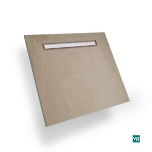 Wet room kit shower tray 800 x 1200 linear end drain walk in wetroom kits base ebay - Walk in shower base kit ...