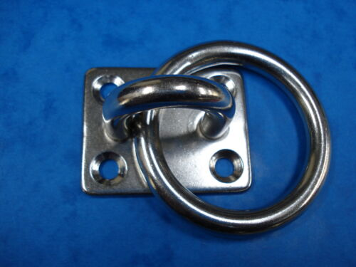 8mm Ring on Plate Stainless Steel 316 Marine Grade Chandlery  FREE POST