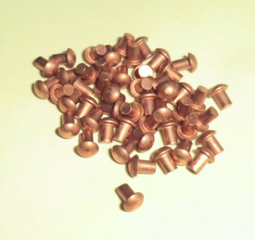 50 Kupfernieten  DIN 660 Halbrundkopf 3x10