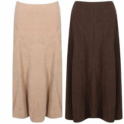 ***Brand new ladies women beige/brown maxi skirt  size 12 to 32***