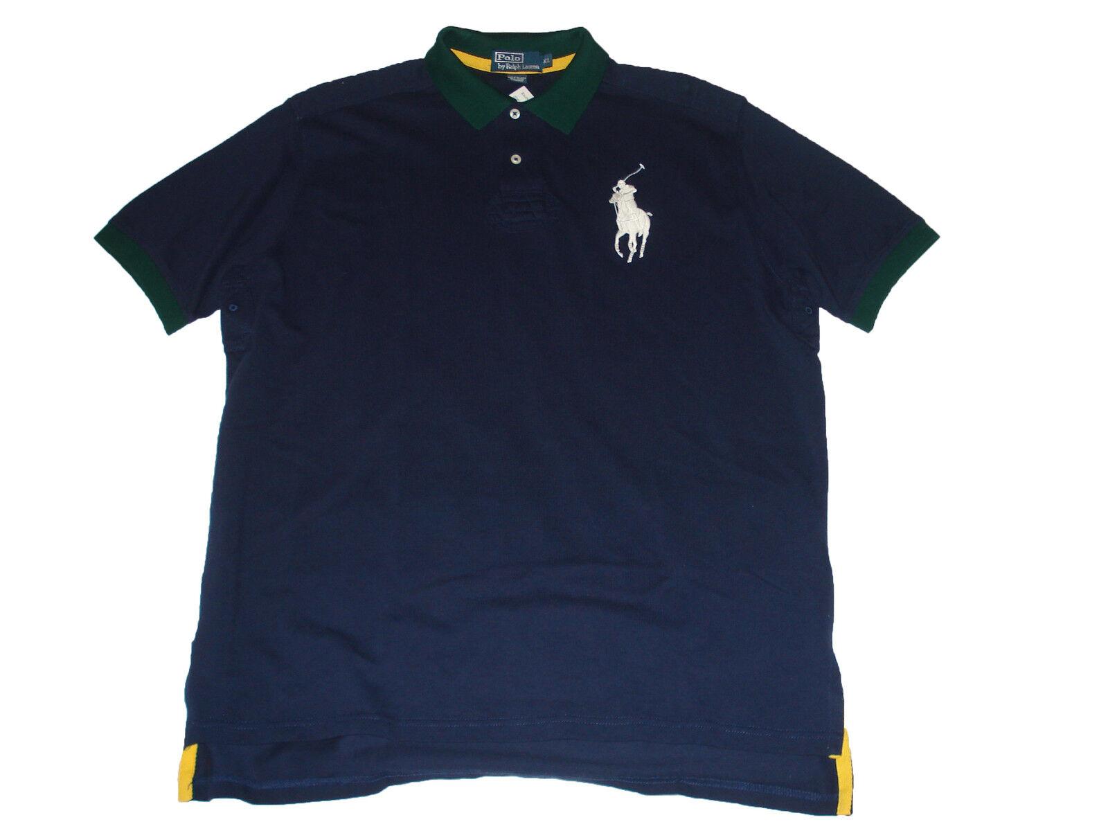 Polo Ralph Lauren Big Pony XL Navy bluee Rugby Jersey Shirt