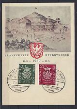212# BRD Mi 121-122 a. Postkarte Frankfurter Herbstmesse 1950, mit anläss. SoSt