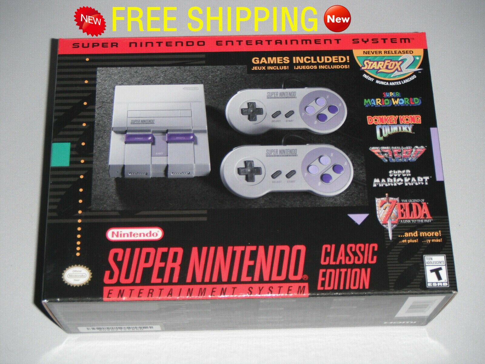 New Super Nintendo Mini Console Entertainment NES Classic Edition HD 21 GAMES