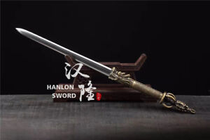High-Quality-Copper-Dragon-Design-Folded-Steel-Blade-Chinese-Sword-Double-Edge