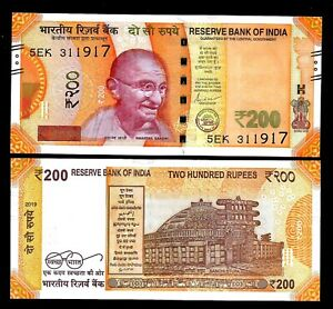 Rs-200-India-Banknote-Shakti-Das-034-plain-034-2019-NEW-GANDHI-GEM-UNC-RARE
